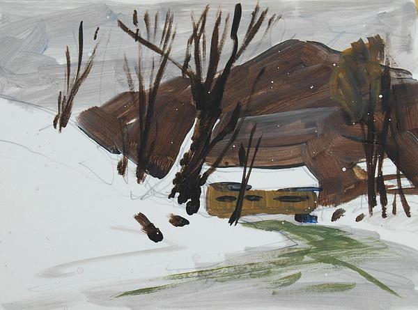 Winter Painting - Winter by Len Stomski