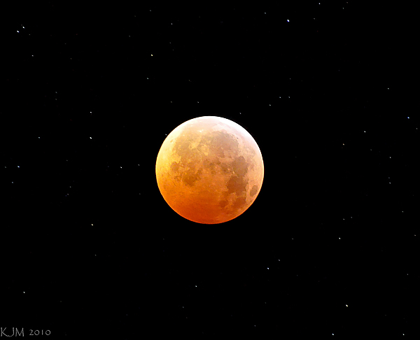 Lunar Photograph - Winter Solstice Lunar Eclipse 2010 by Kevin Munro