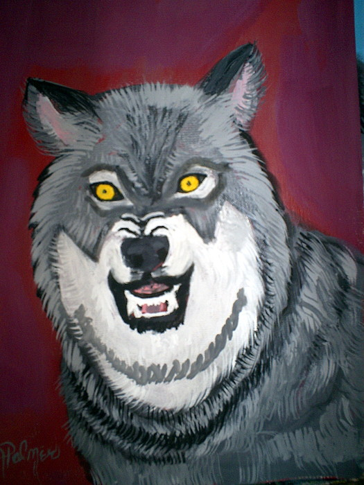 Wolf Painting - Wolf by Margaret Palmer