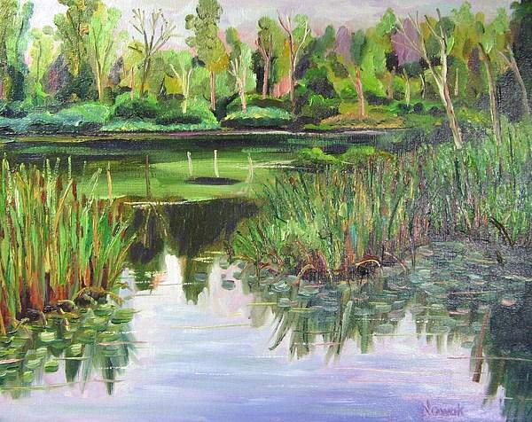 Marsh Painting - Woodland Reflections by Richard Nowak