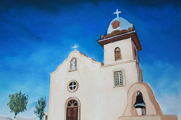 Ysleta Mission Painting by Melinda Etzold