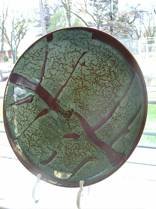 Pottery Ceramic Art - Zen Platter by Alan Lacovetsky