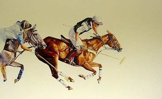 Polo Paintings Painting - 10 Goal Action At The Argentine Open by Sabrina Siga