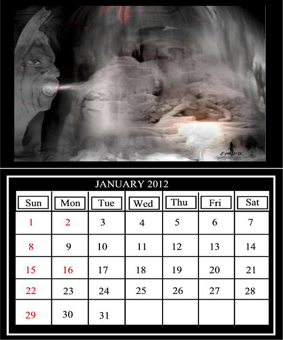 The Last Calendar Digital Art by Maria Datzreiter
