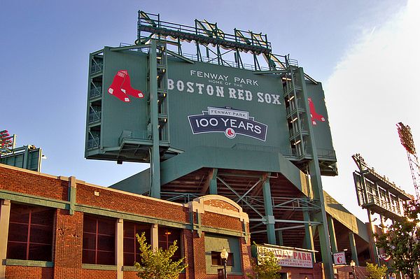 Fenway Park Photograph - 100 Years At Fenway by Joann Vitali