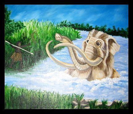 10000 B c Painting by Usha Rai