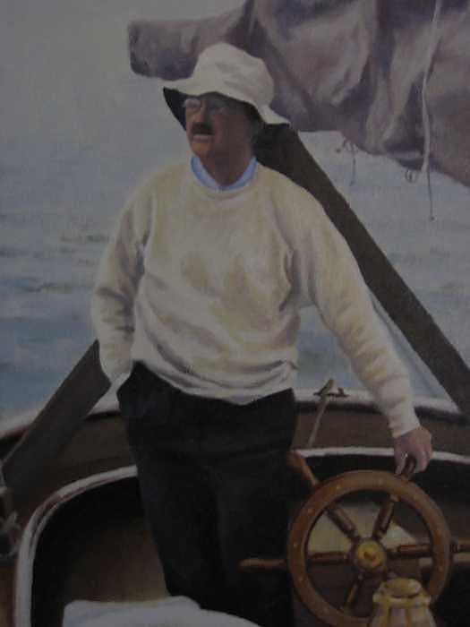 Mooring Hunt Painting by David Rodman Johnson