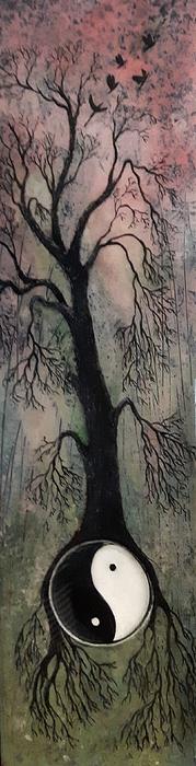 Tree Of Life Mixed Media - #1081 Perfect Balance by Linda Skibinsky