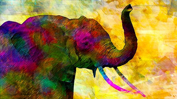 Elephant Digital Art - Elephant by Elena Kosvincheva