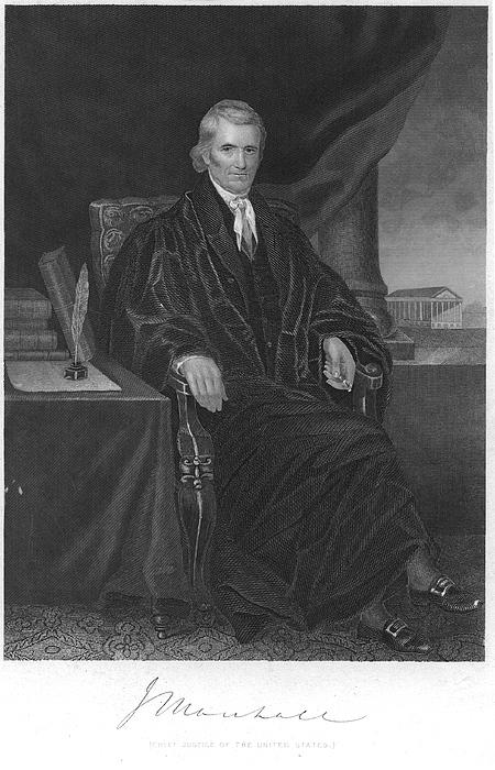 1863 Photograph - John Marshall (1755-1835) by Granger