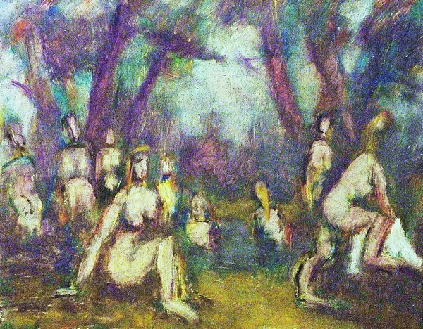 Nude Painting - Baigneuses by Jean pierre  Harixcalde