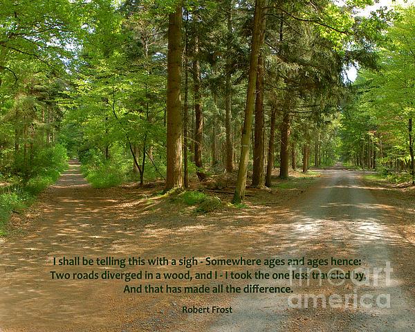Robert Frost Photograph - 12- The Road Not Taken by Joseph Keane