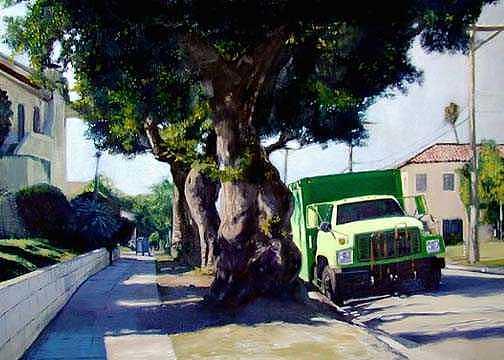 Urban Landscape Painting - 12th Street by Merle Keller
