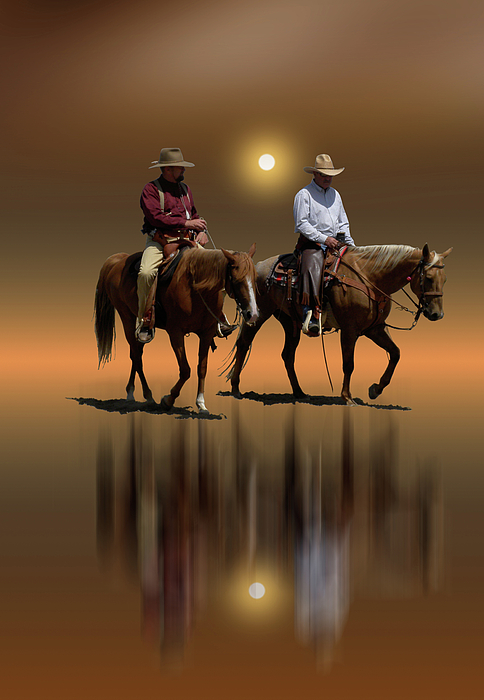 Cowboys Photograph - 1368 by Peter Holme III