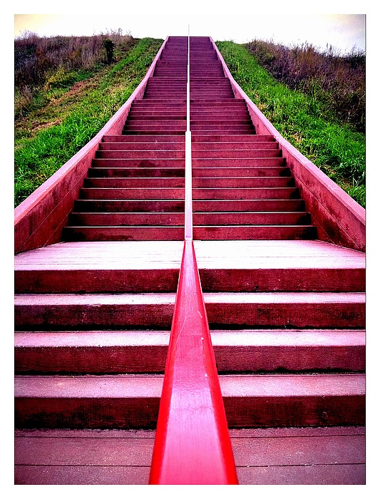 Stairway Photograph - 145 Steps To Monks Mound by John McGarity