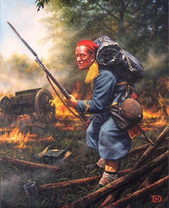 Civil War Painting - 146th New York Zouaves by Dan  Nance
