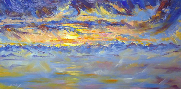 Earth Light Painting - Earth Light Series by Len Sodenkamp