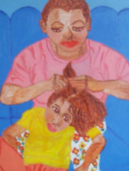 Grandmas Beauty Salon Painting by Velda Jenkins