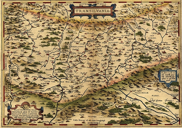 History Photograph - 1570 Map Of Transylvania, Now by Everett