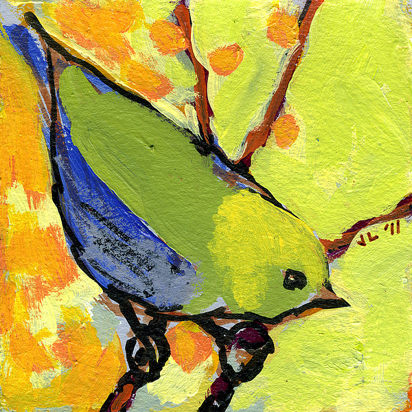 Bird Painting - 16 Birds No 2 by Jennifer Lommers