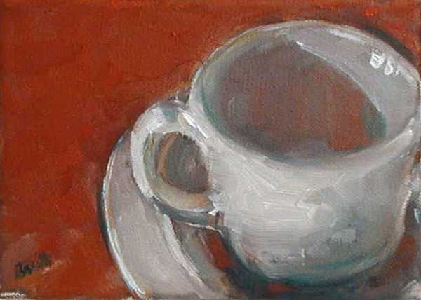 Cup Painting - Baby Cup And Bowl by Kathy Busillo