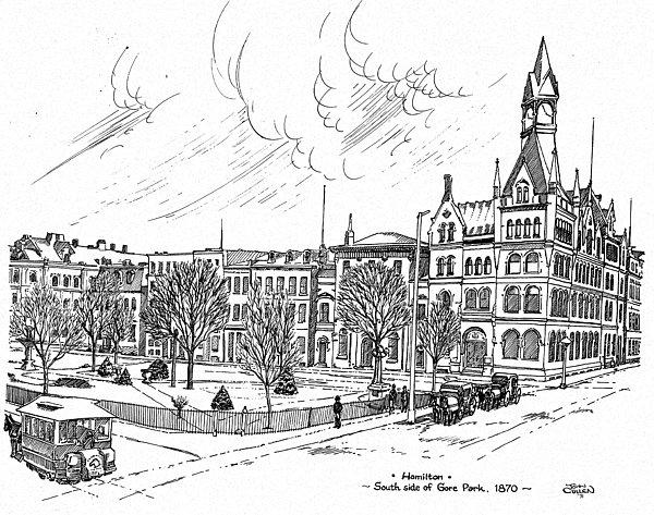 Landscape Mixed Media - 1870 Gore Park Hamilton Ontario by John Cullen