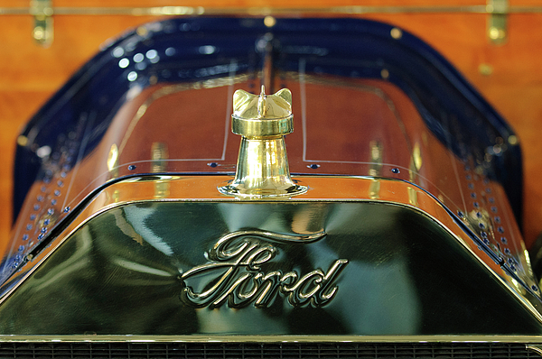 Hoodie Photograph - 1911 Ford Model T Runabout Hood Ornament by Jill Reger