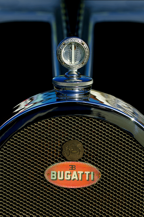 Hoodie Photograph - 1927 Bugatti Replica Hood Ornament by Jill Reger
