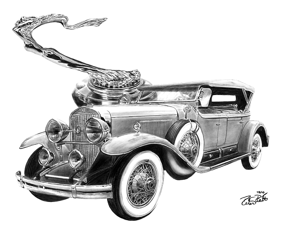 1929 Cadillac Drawing - 1929 Cadillac  1929 by Peter Piatt