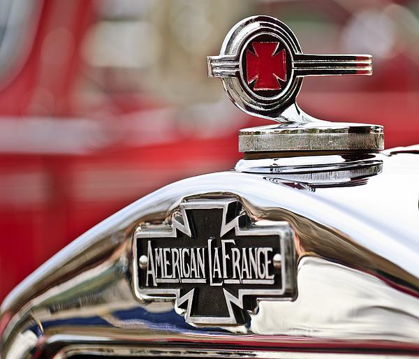 1938 American Lafrance Type 400 Photograph - 1936 American Lafrance Fire Truck Hood Ornament by Jill Reger