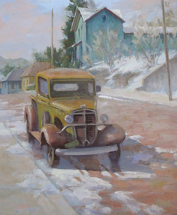 Antique Cars Painting - 1939 International by Frank LaLumia