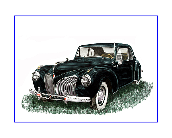 1941 Lincoln Continental Mk 1 Painting by Jack Pumphrey