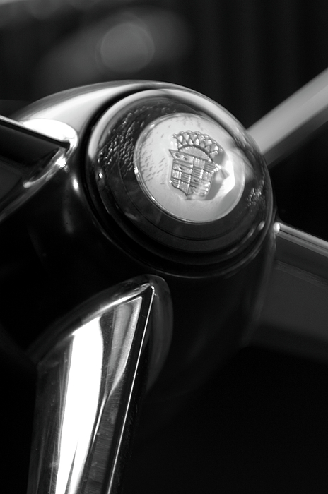 Steering Wheel Photograph - 1947 Cadillac Steering Wheel by Jill Reger