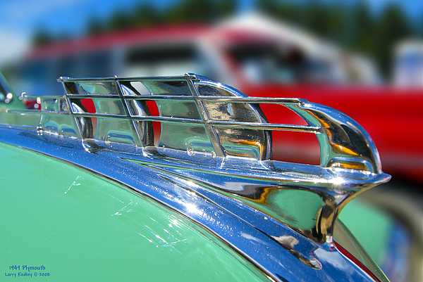 Auto Photograph - 1949 Plymouth Hood Ornament by Larry Keahey