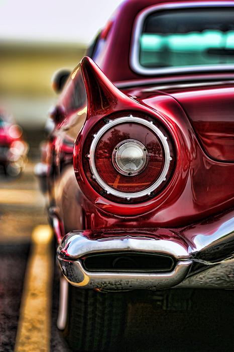 1957 Photograph - 1957 Ford Thunderbird Red Convertible by Gordon Dean II
