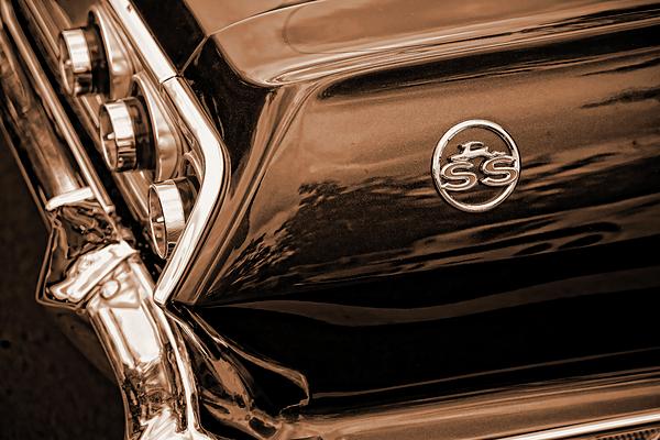 1963 Photograph - 1963 Chevy Impala Ss Sepia by Gordon Dean II