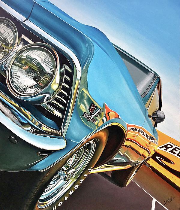 Chevelle Painting - 1966 Chevelle by Branden Hochstetler