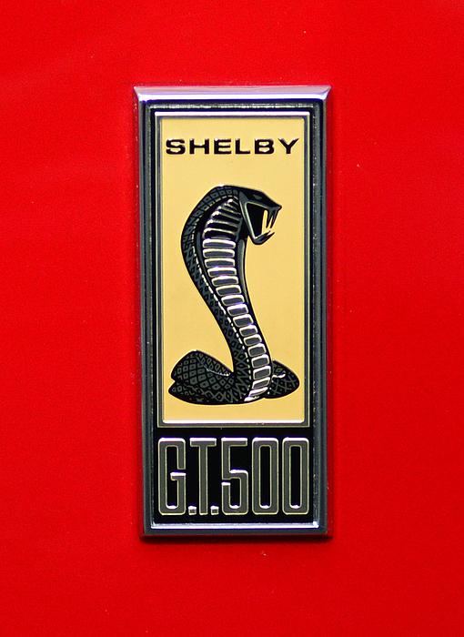 1967 Ford Shelby Gt 500 Cobra Fender Emblem On Red