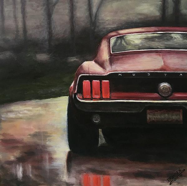 1967 Painting - 1967 Mustang by Branden Hochstetler
