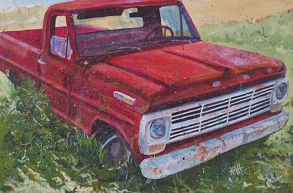 Truck Painting - 1969 F100 by Les Katt