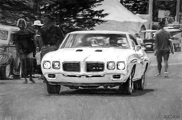 1970 Digital Art - 1970 Pontiac Gto by Ken Morris