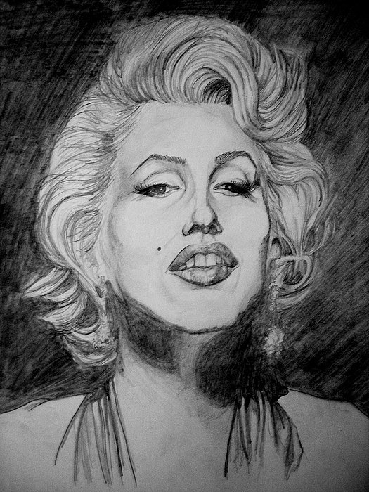 Marylin Monroe Drawing by Sean Leonard
