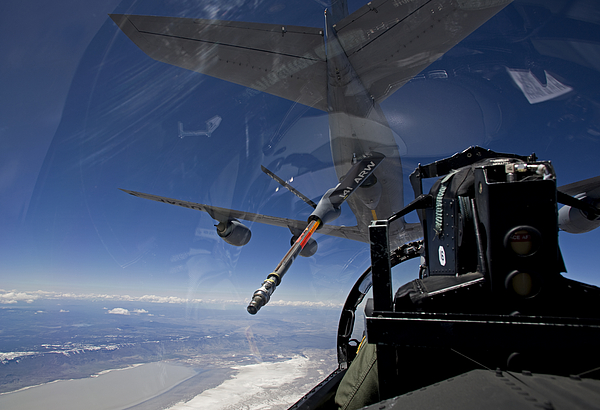 Color Image Photograph - An F-15 Eagle Pulls Into Position by HIGH-G Productions