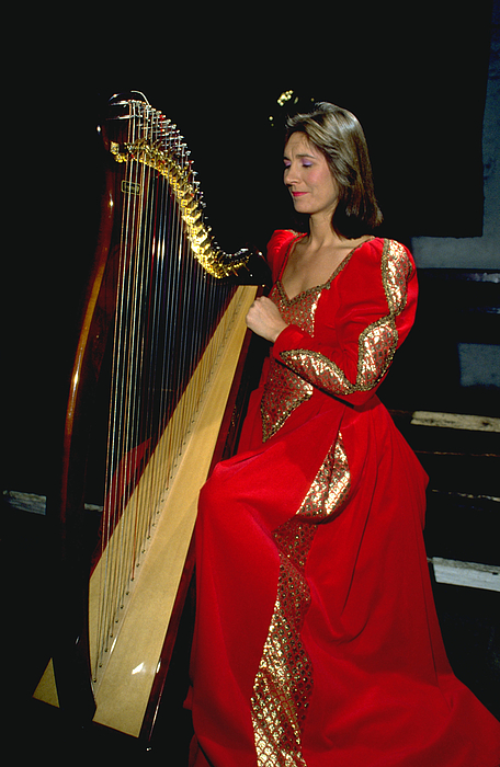 Harp Photograph - Beautiful Harp Player by Carl Purcell