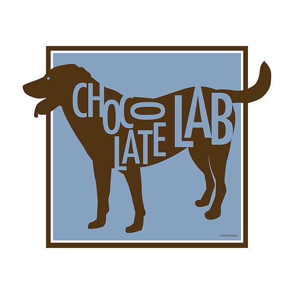 Chocolate Lab Digital Art by Geoff Strehlow
