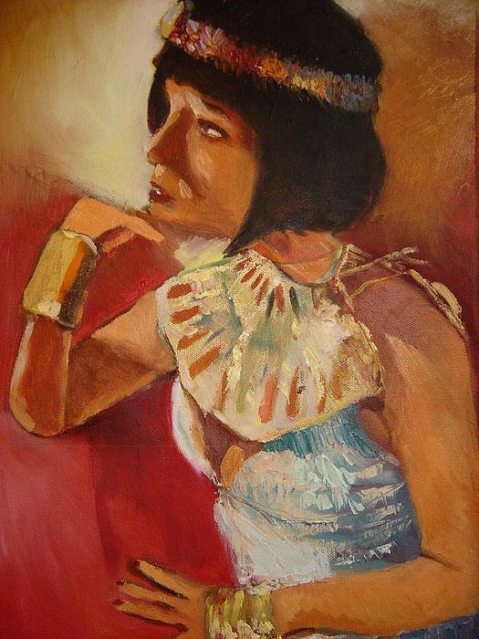 Cleopatra  Painting by Pierre  Bibeau