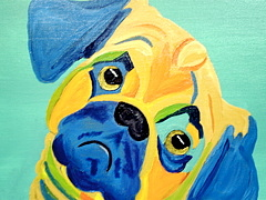 Pet Portraits Painting - Did Someone Say Treat by Suzanne Filotei