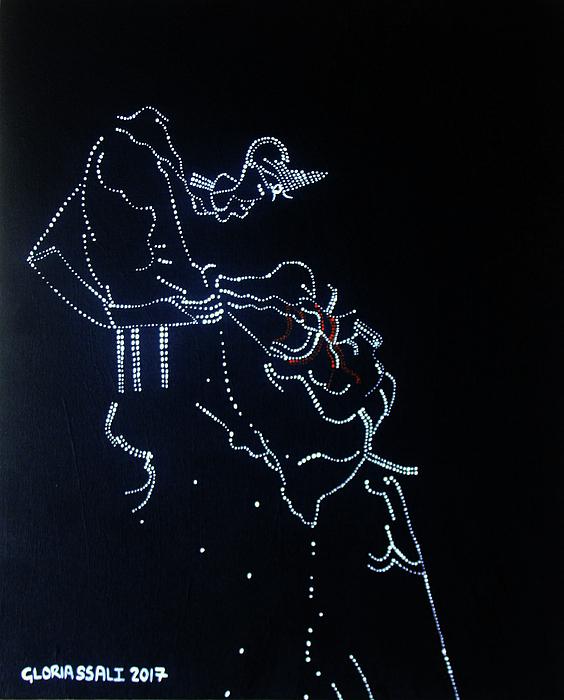 Jesus Painting - Dinka Corset - South Sudan by Gloria Ssali