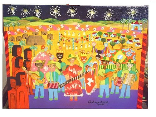 Festa Do Divino Painting by Rodrigues Lessa