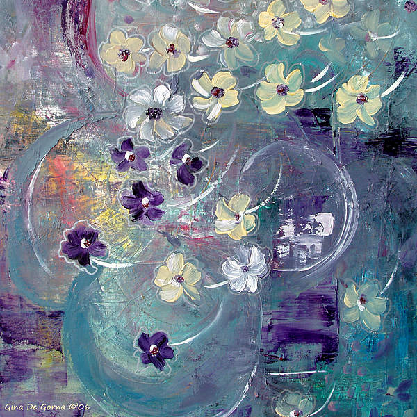 Flowers Painting - Flowers And Dreams 5 by Gina De Gorna